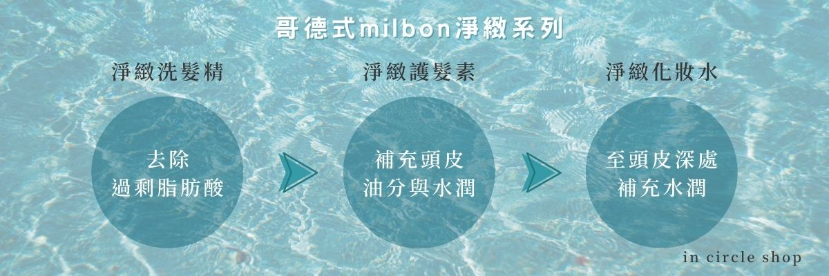 哥德式Milbon洗護淨緻系列